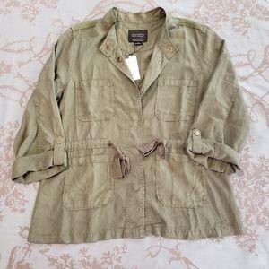 Sanctuary Twill Tie Safari Jacket size XL